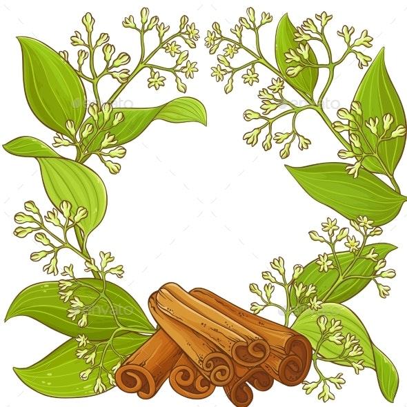 Cinnamon  Vector Frame - Food Objects
