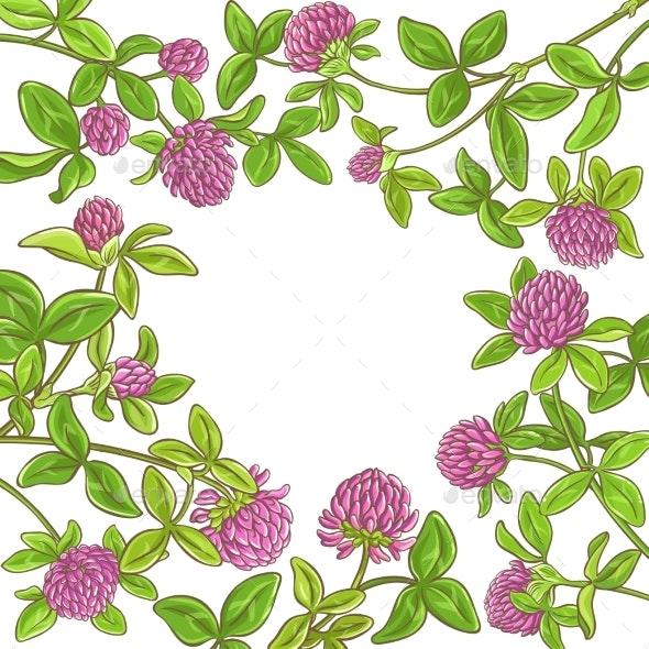 Clover Branch Vector Frame - Health/Medicine Conceptual