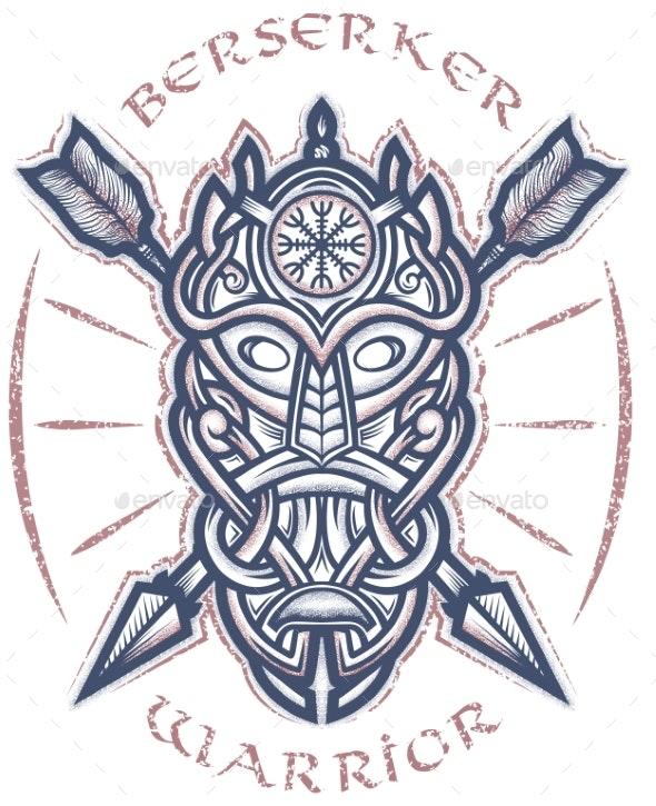 Mask of Odin - Religion Conceptual