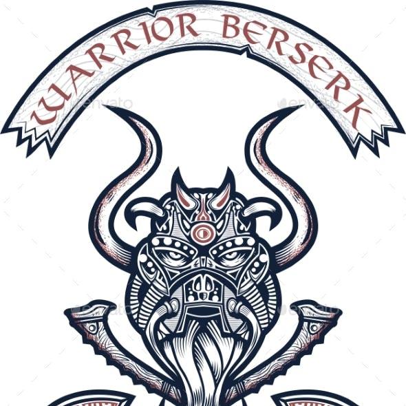 God Odin Illustration in Tattoo Style