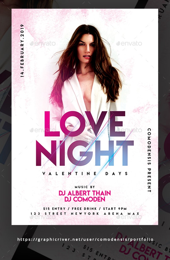 Love Night Party Flyer Templates - Clubs & Parties Events