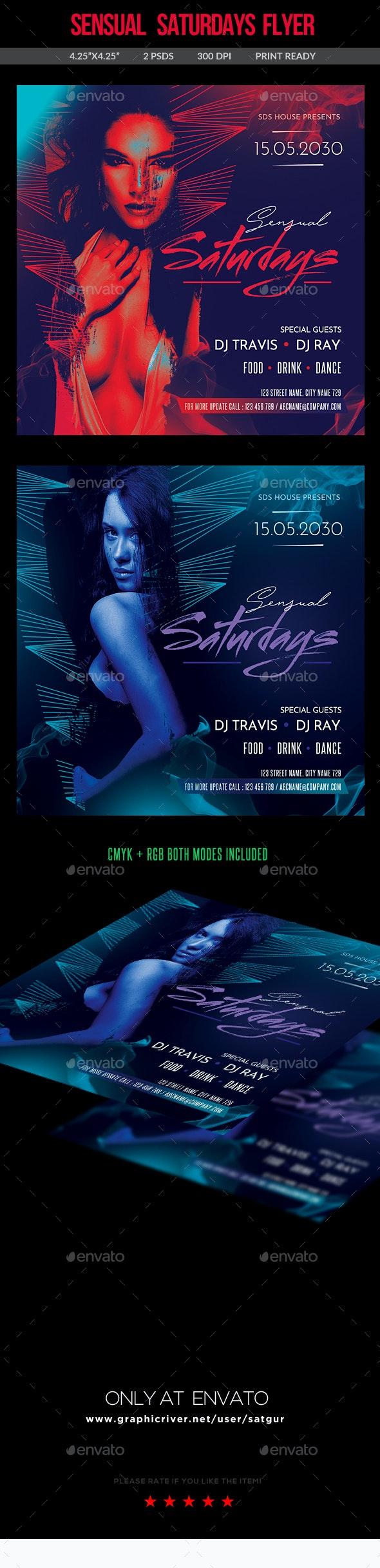 Sensual Saturdays Flyer - Clubs & Parties Events