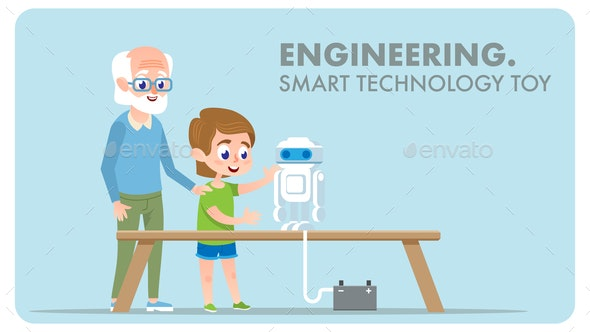 Engineering Smart Technology Toy - Miscellaneous Vectors