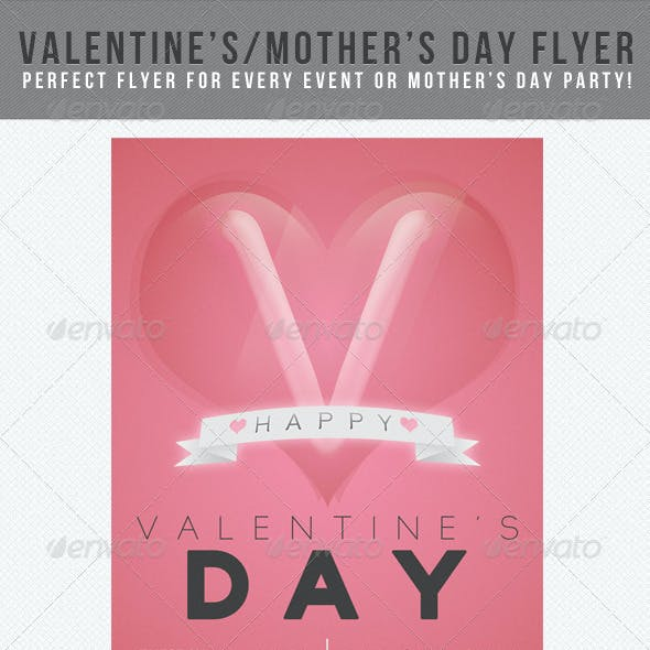 Valentine's Day Flyer: Red Blush