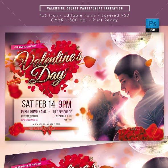 Valentine Romantic Couple Event Invitation