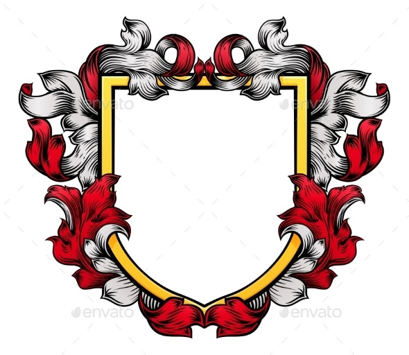 Coat of Arms Shield Crest Knight Heraldic Family - Miscellaneous Vectors