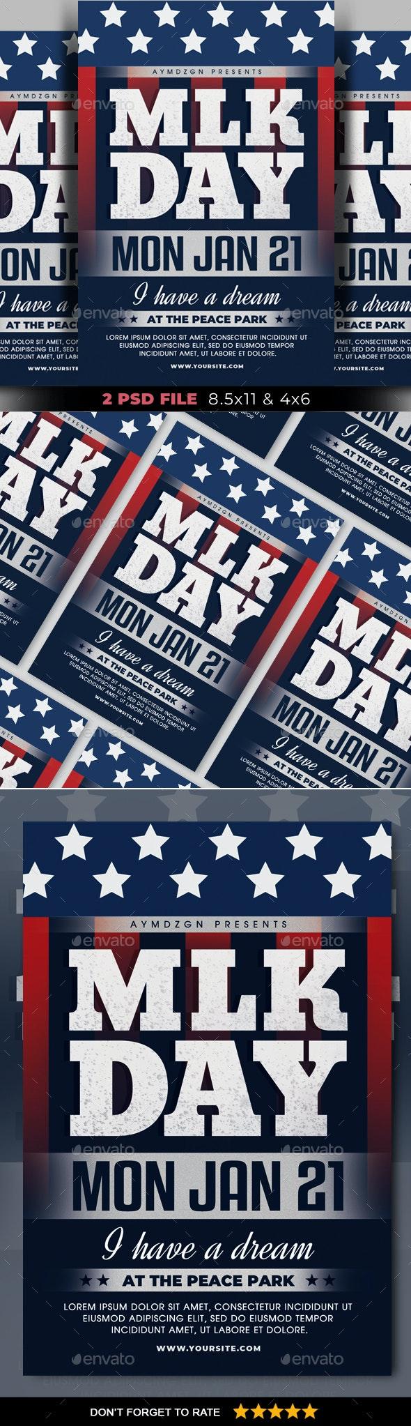 MLK Day Flyer - Events Flyers