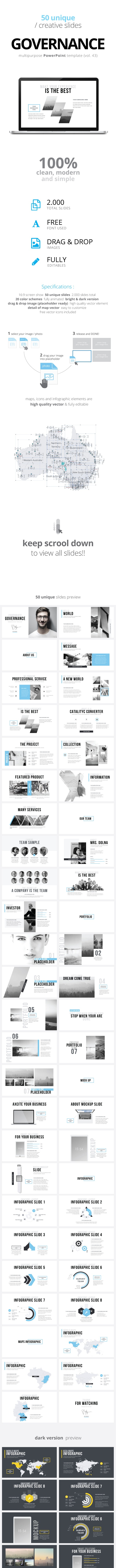 Governance Multipurpose PowerPoint Template (V.43) - Business PowerPoint Templates