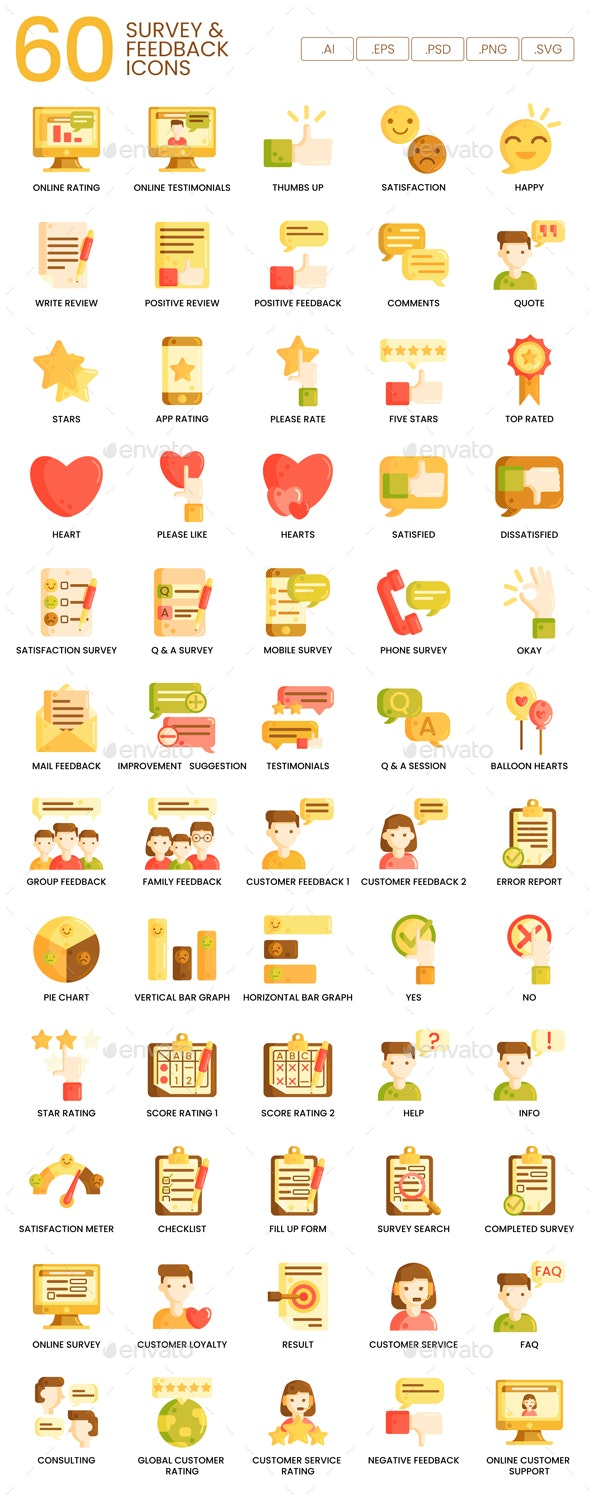 Survey & Feedback Icons - Caramel Series - Business Icons