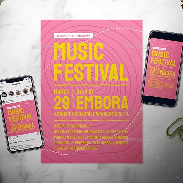 Music Festival Flyer Set
