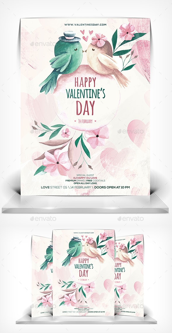 Love You Flyer - Flyers Print Templates