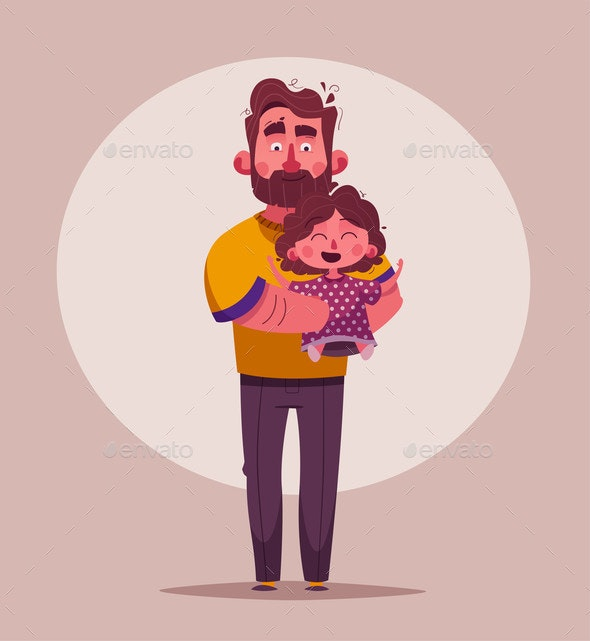 The Best Dad and Daughter - People Characters