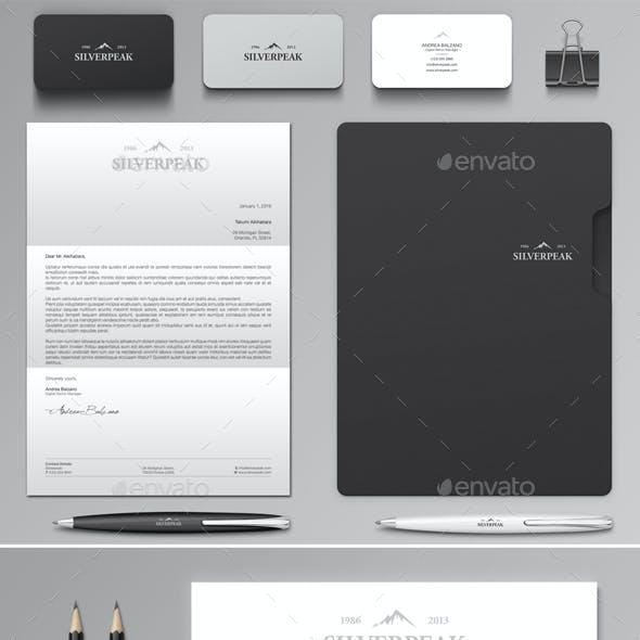 Silverpeak Stationery Set & Invoice Template