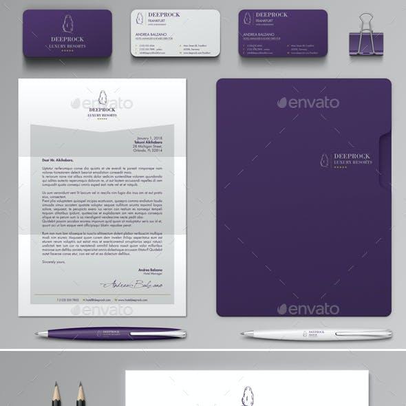 Deeprock Stationery Set & Invoice Template