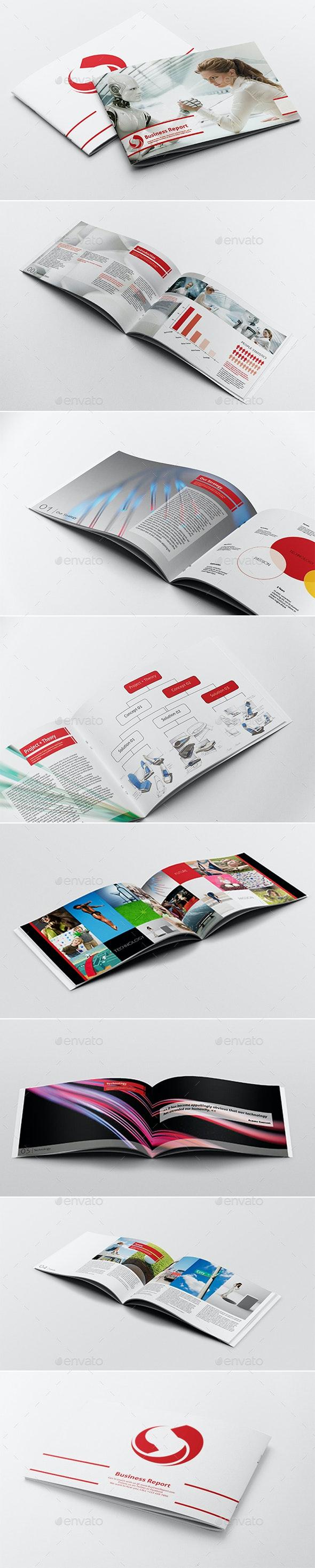 Business Report Template - Brochures Print Templates