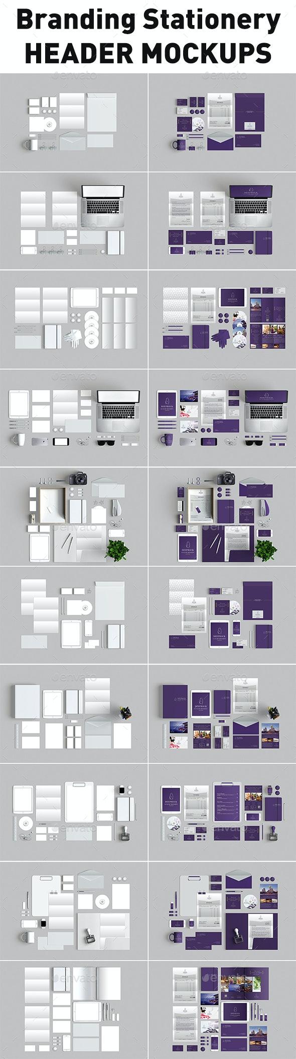 10 Branding Stationery Mockups - Stationery Print