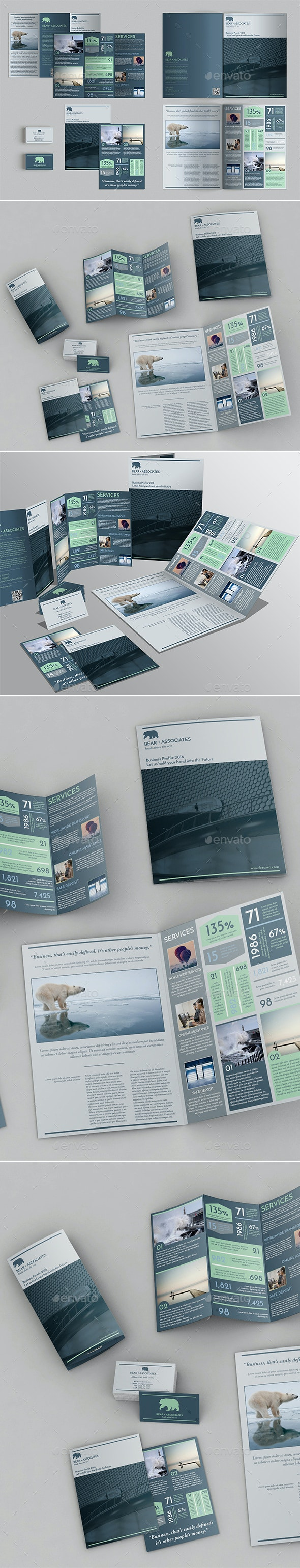 Set of Brochures / Stationery Templates - Brochures Print Templates