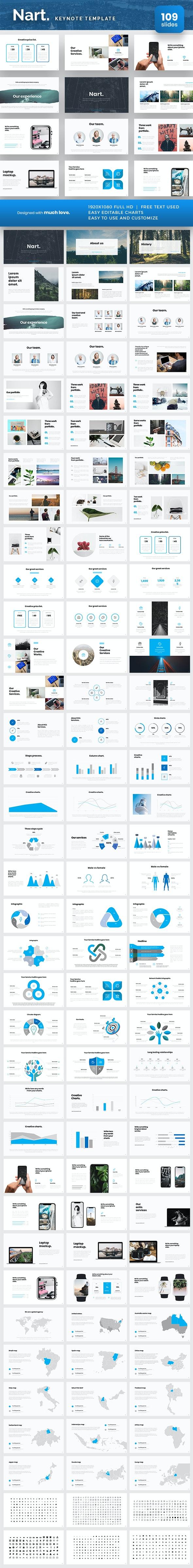Nart Keynote Presentation Template - Keynote Templates Presentation Templates