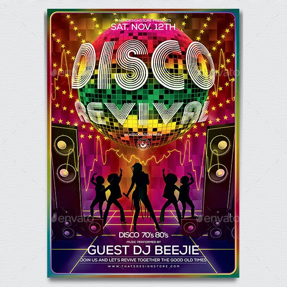 Disco Revival Flyer Template V1