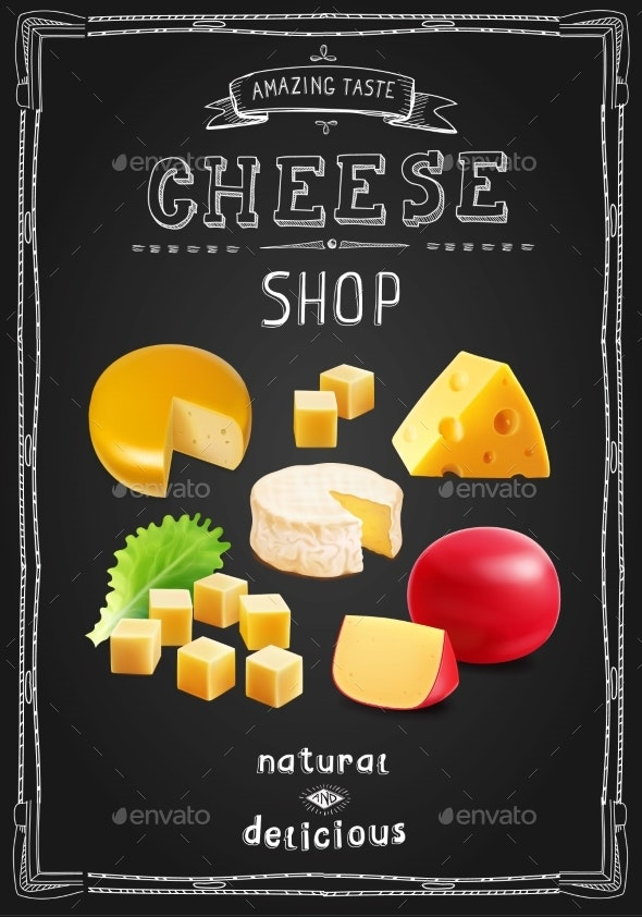 Cheese Various Types Collection - Food Objects