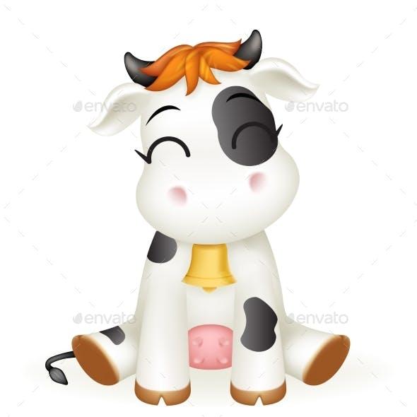 Baby Cow Calf Cartoon