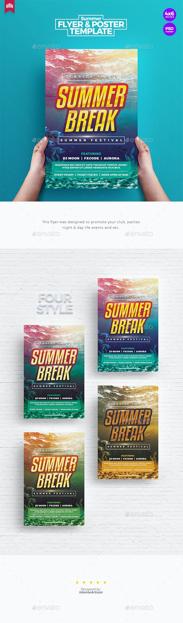Summer Break - Flyer Template - Clubs & Parties Events