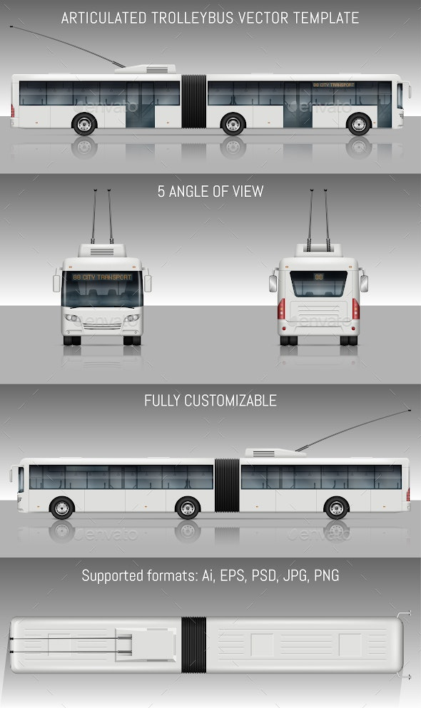 Articulated Trolleybus - Man-made Objects Objects