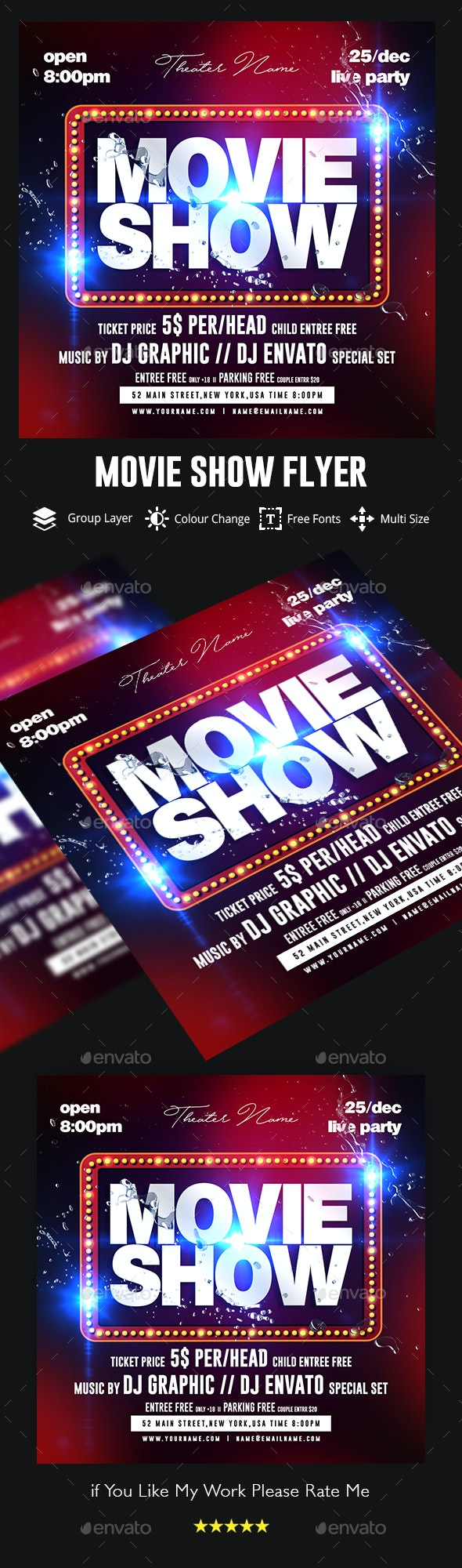 Movie Flyer - Clubs & Parties Events