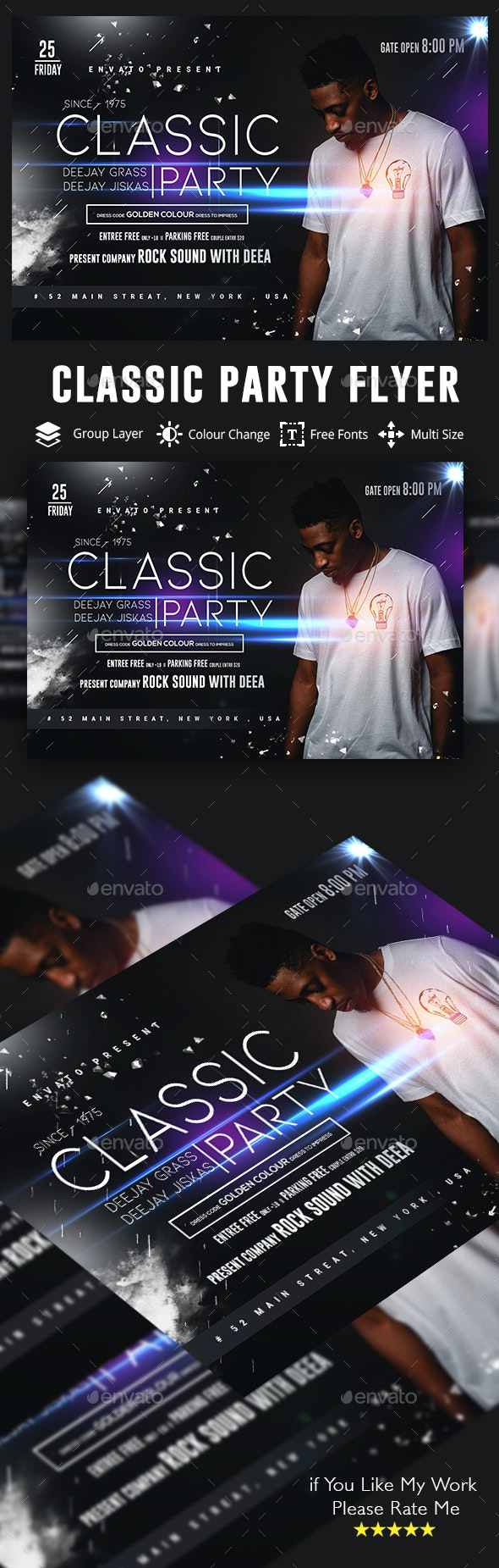 Live Guest Dj Night Flyer - Clubs & Parties Events