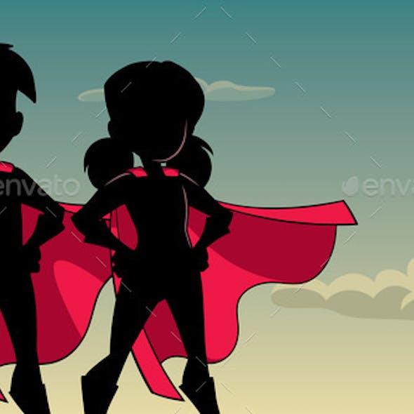 Super Kids Sky Silhouette