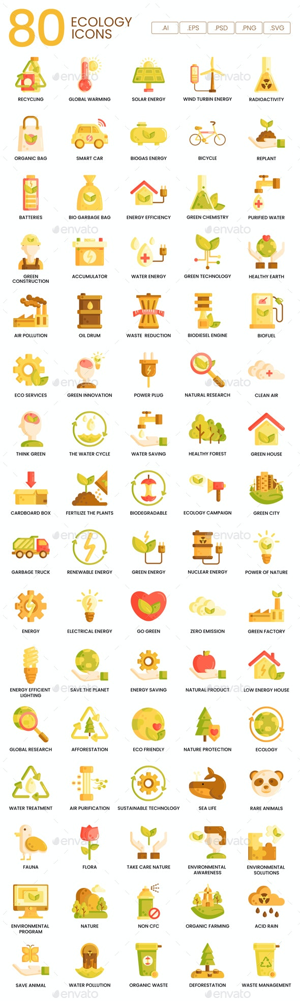Ecology Icons - Caramel Series
