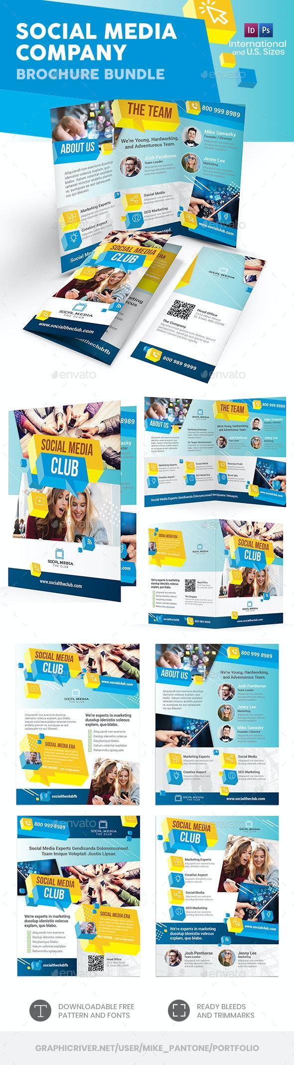 Social Media Company Print Bundle - Informational Brochures