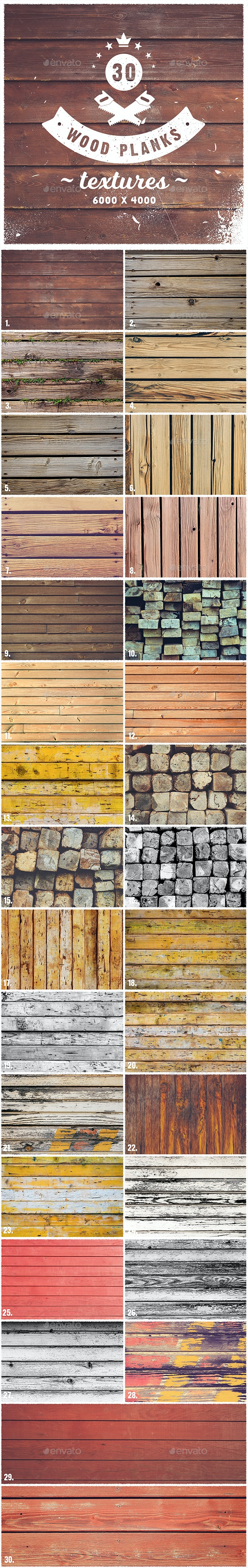 30 Wood Planks Textures by webcombo | GraphicRiver