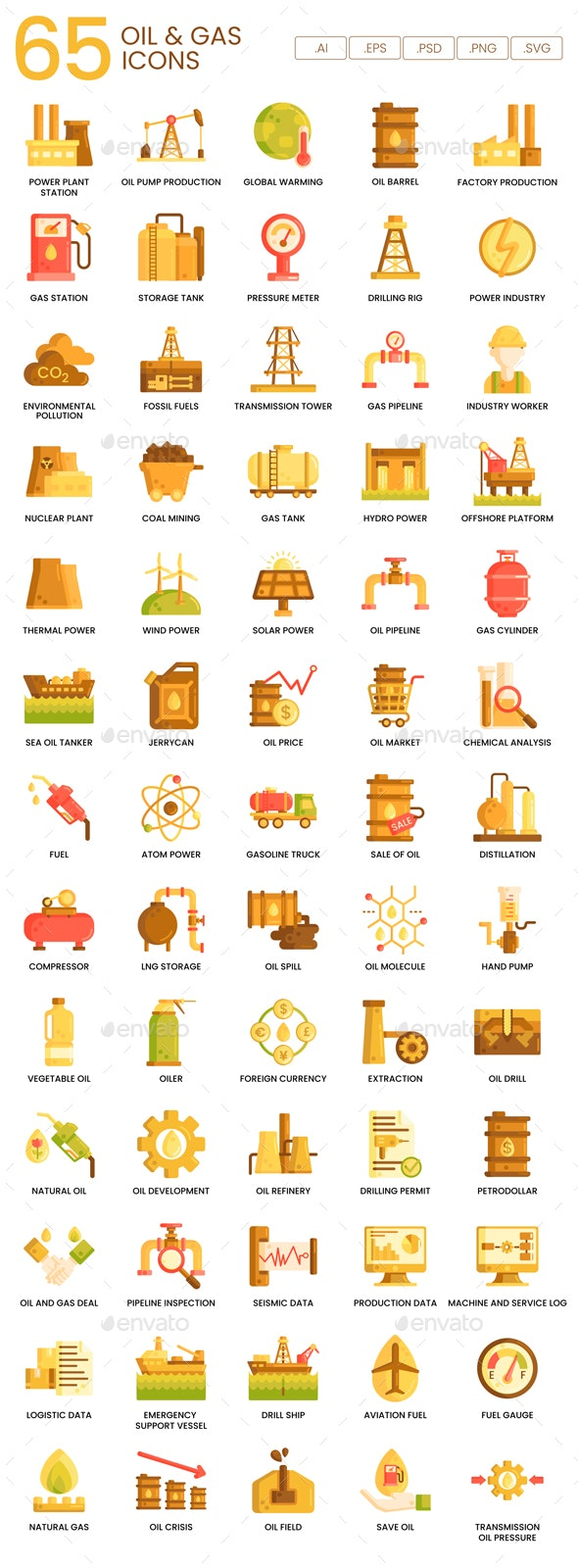 Industry Icons - Caramel Series - Man-made objects Objects