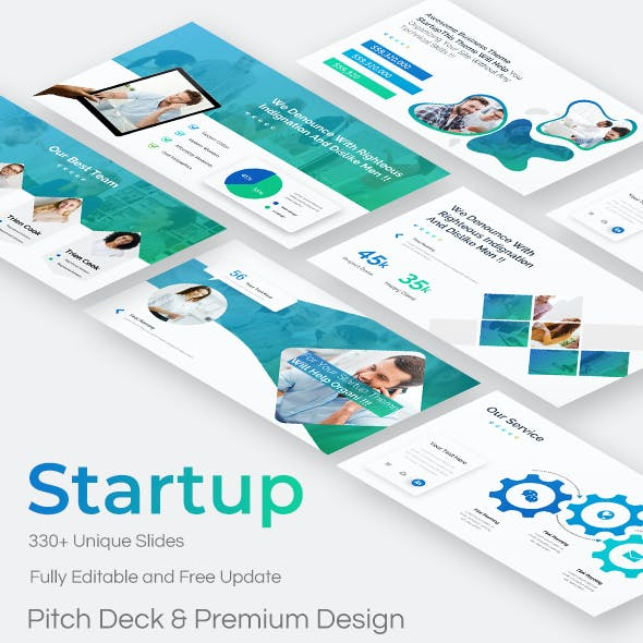 Model Startup Pitch Deck Google Slide Template