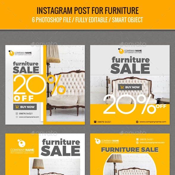Instagram Post for Furniture