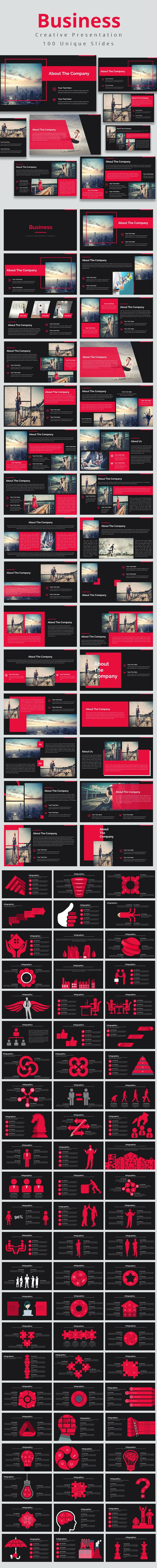 Business Multi-purpose Keynote Presentation Template - Business Keynote Templates