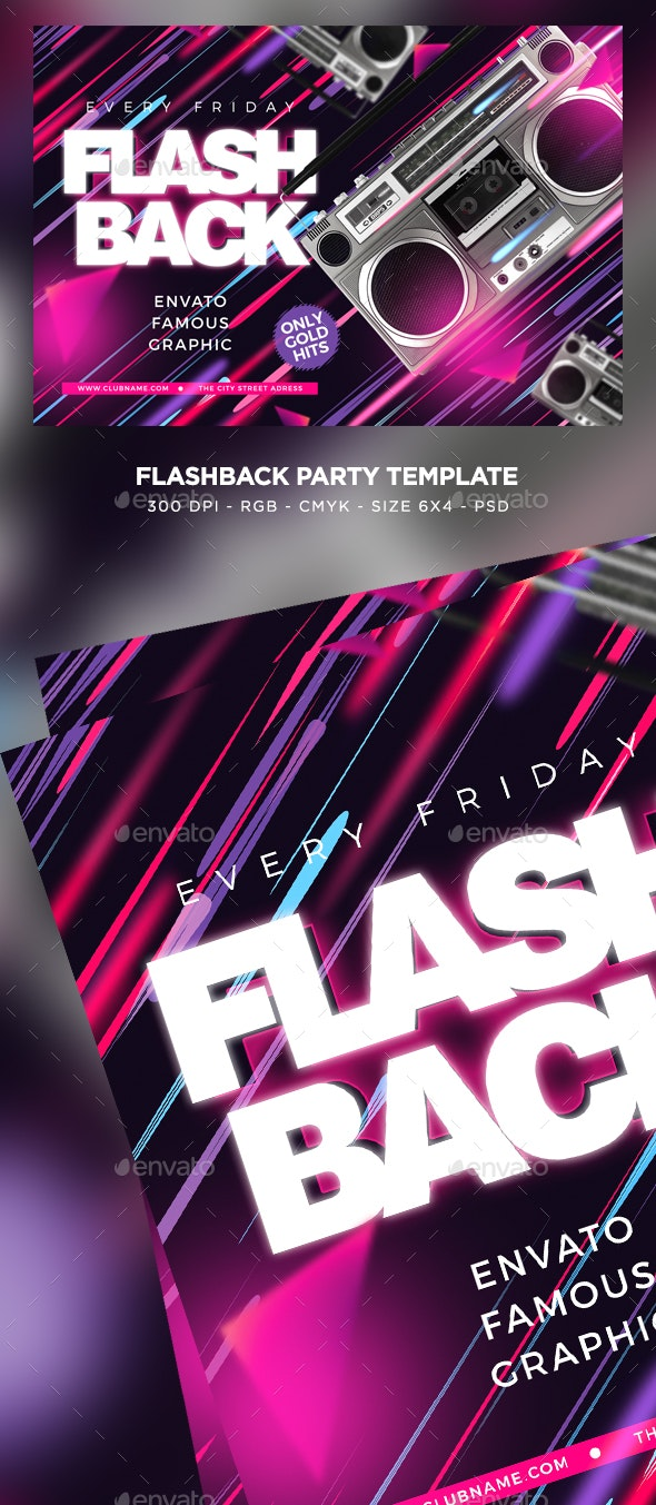 Flash Back Flyer - Clubs & Parties Events