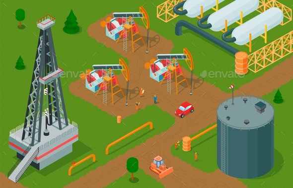 Oil Extraction Strategy Composition - Industries Business