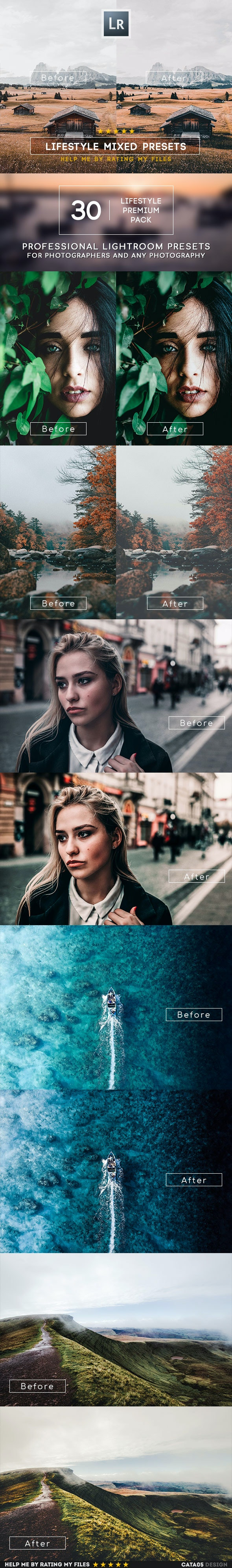 30 LifeStyle Mixed Lightroom Presets - Lightroom Presets Add-ons