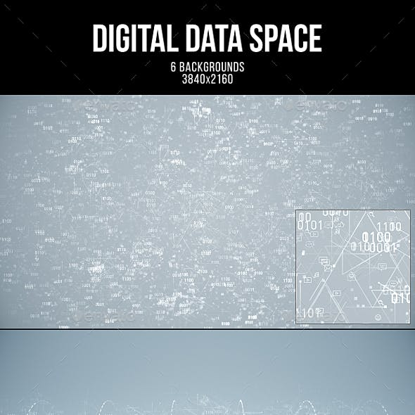 Digital Data Space White Backgrounds