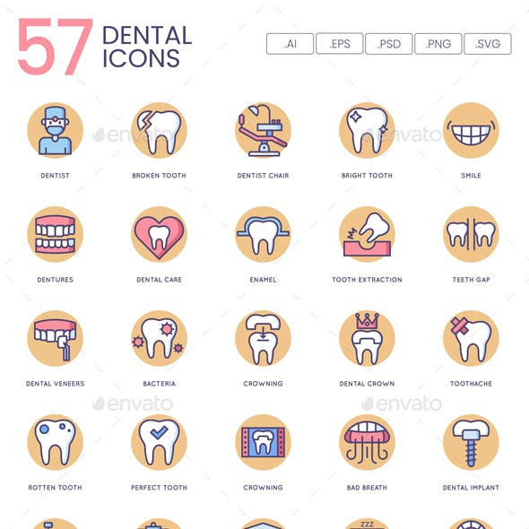 Dental Icons - Butterscotch Series