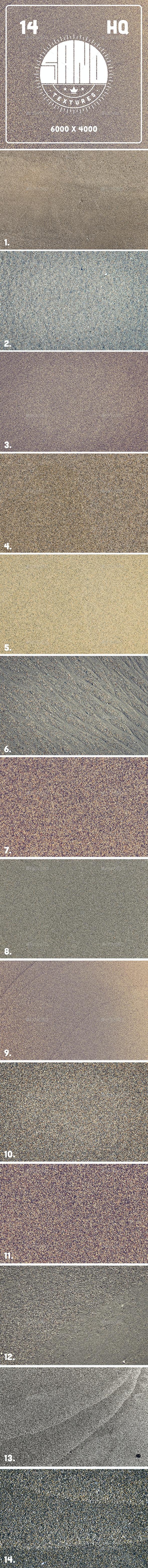 14 Sand Textures - Nature Textures