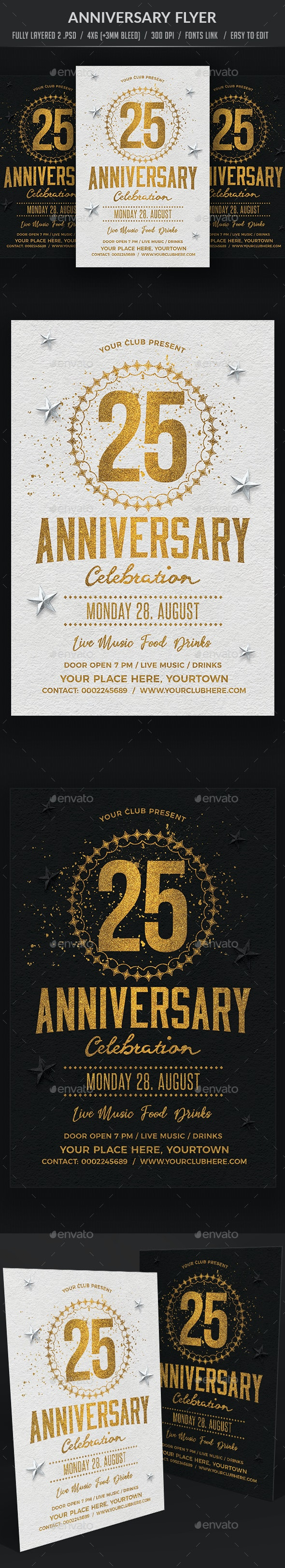 Anniversary Flyer - Clubs & Parties Events
