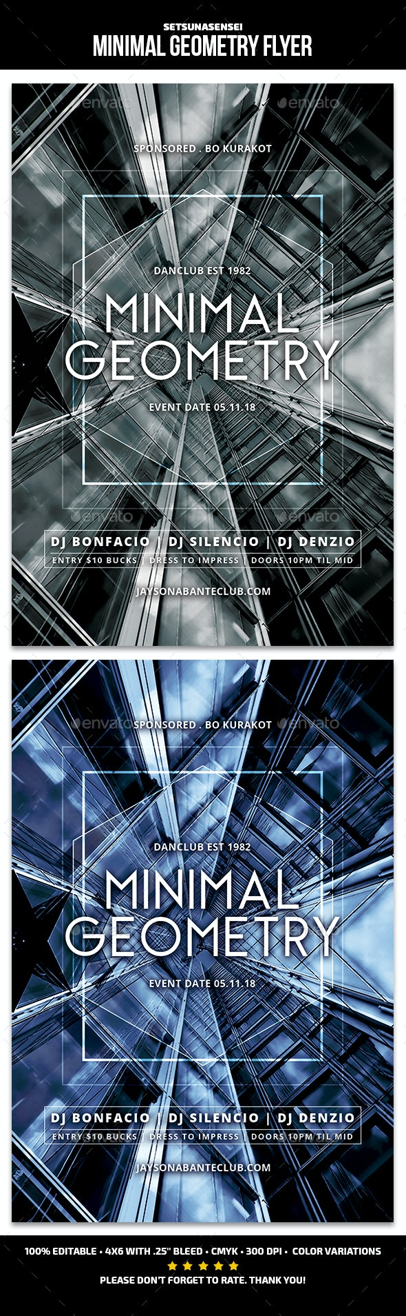 Minimal Geometry Flyer - Events Flyers