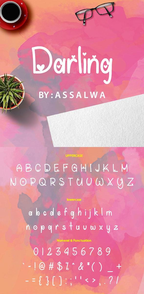 Darling Lovable - Handwriting Fonts