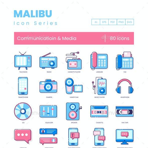 Communication Icons - Malibu Series