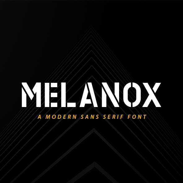 MELANOX - Modern Font