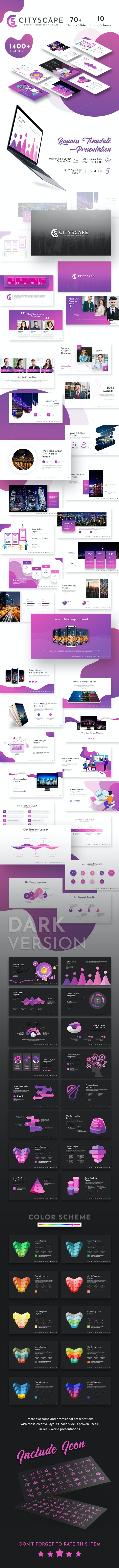 Cityscape Presentation Template - Business PowerPoint Templates