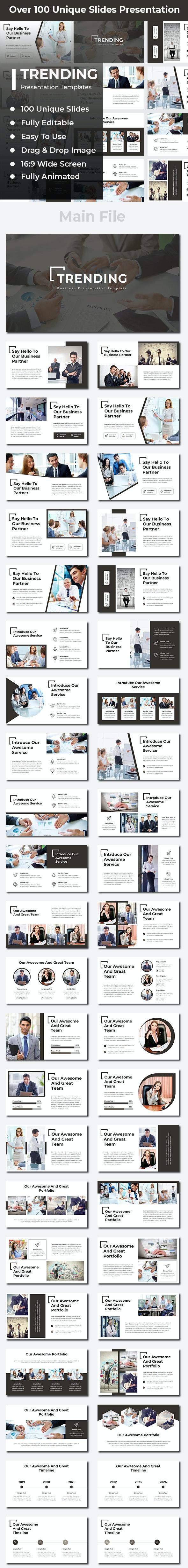 Trending Business Google Slides - Google Slides Presentation Templates